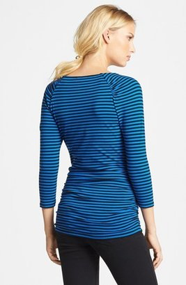 MICHAEL Michael Kors Zip Trim Ruched Top