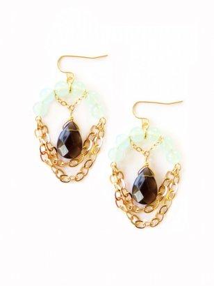 K. Amato Beaded Half Drop Earrings