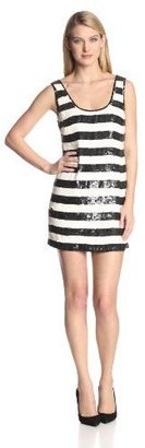 Trina Turk Women's Marigold Sequin Stripe Tank Dress