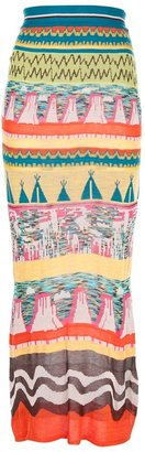 Tsumori Chisato stretchy tribal print skirt