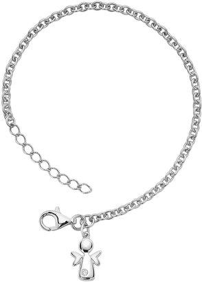 Little Diva Diamonds Sterling Silver Diamond Accent Angel Bracelet - Kids
