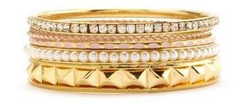 Charlotte Russe Studs & Diamonds Bangle Set