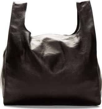 Maison Martin Margiela Black Leather Shopper Tote