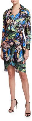 Milly Jordan Tropical Palm Print Shirtdress