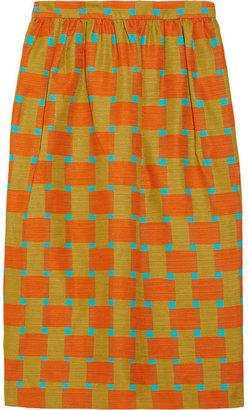 Jonathan Saunders Roselyn printed cotton-blend skirt