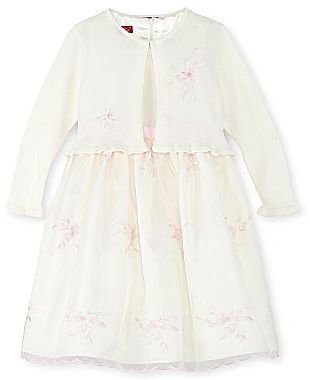 JCPenney Princess Faith Embroidered Floral Dress and Sweater - Girls 2t-4t