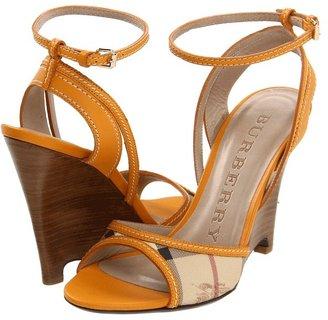 Burberry Haymarket Braid Caledon Wedge Sandal
