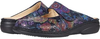 Finn Comfort Stanford (Dark Blue Irpino) Women's Clog/Mule Shoes