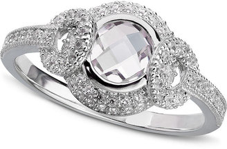 Crislu Ring, Platinum Over Sterling Silver Cubic Zirconia Ring (1-1/4 ct. t.w.)