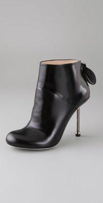 Camilla Skovgaard Round Toe Ankle Booties with Steel Heel