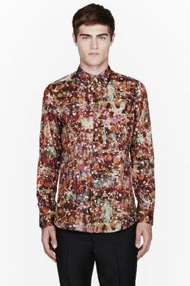 Paul Smith Burgundy marble print shirt