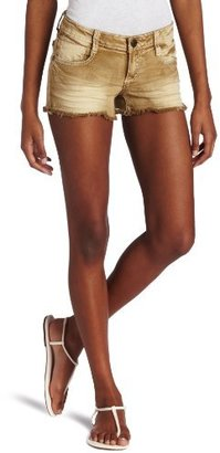 Southpole Juniors Colored Stretch Short with Thick Stitch and Crinkle Detail