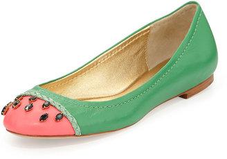 Kate Spade Jade Watermelon Ballerina Flat, Grass Green