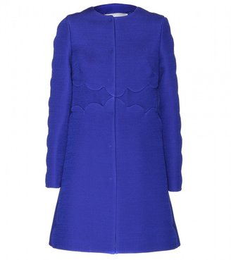 Valentino Wool coat with scalloped detailing
