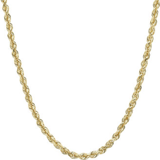 FINE JEWELRY Infinite Gold 14K Yellow Gold 18 Glitter Solid Rope Chain $1,062 thestylecure.com