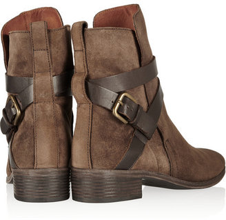 See by Chloe Buckled suede ankle boots