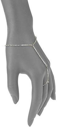 Jennifer Zeuner Jewelry Sterling Silver Hand Chain Bracelet & Ring