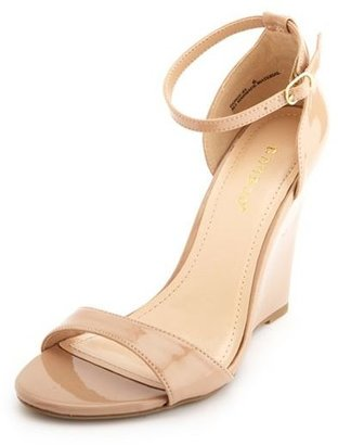 Charlotte Russe Ankle-Strap Single Sole Wedge