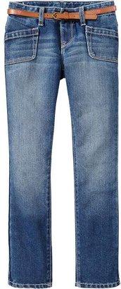 Old Navy Girls Heart-Belt Skinny Jeans