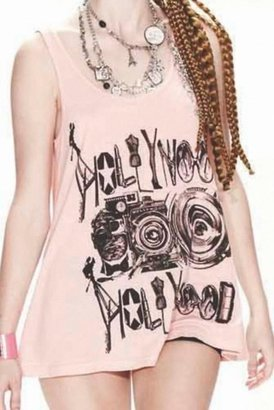 Lauren Moshi Lily Hollywood Camera Swing Tank in Cotton Candy