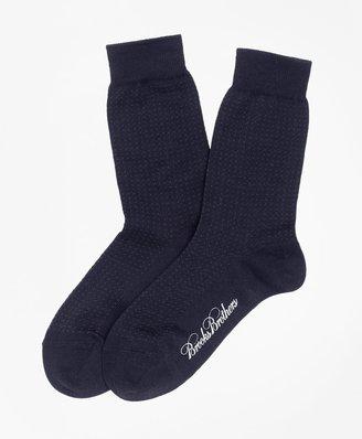 Brooks Brothers Boys Cotton Mini Dot Socks