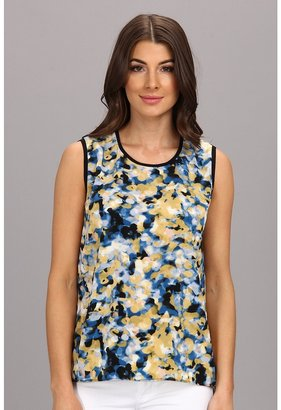 Calvin Klein Jeans Printed High-Low Muscle Soft Touch Poly Tank