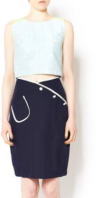 Comme Toi Retro Nautical Skirt
