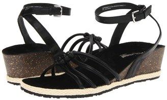Orthaheel Dr. Weil by Serenity Strap Wedge (Black) - Footwear