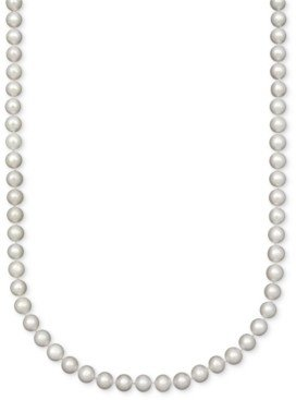 """Belle de Mer Pearl Necklace, 18"""" 14k Gold A Cultured Freshwater Pearl Strand (7-1/2-8mm)"""