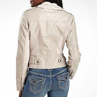 JCPenney Drape-Front Moto Jacket-Plus