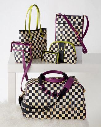 Mackenzie Childs MacKenzie-Childs Courtly Check Travel Bags with Plum Trim