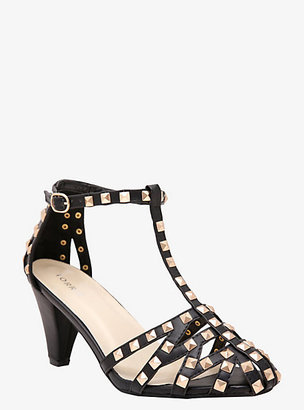 Torrid Pyramid Studded T-Strap Heeled Sandals (Wide Width)