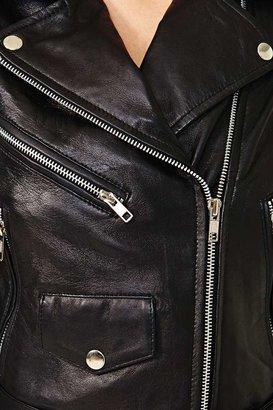 Nasty Gal Bone Shredder Leather Jacket