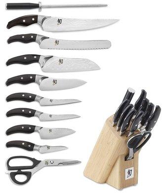 Shun Ken Onion 11-Piece Knife Block Set