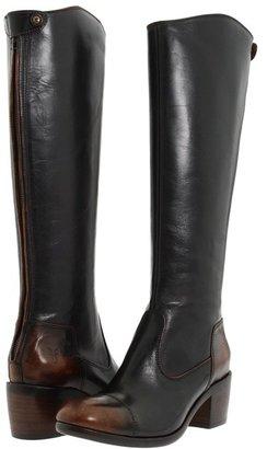 Frye Felicity Back Zip (Dark Brown/Brush Off) - Footwear