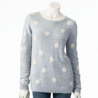 Lauren Conrad dot fuzzy sweater