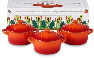 Le Creuset No Kid Hungry Mini Cocottes, Set of 3