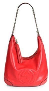 Gucci Soho Leather Chain Hobo Bag
