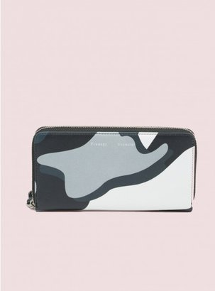 Camo Long Zip Card Wallet Print
