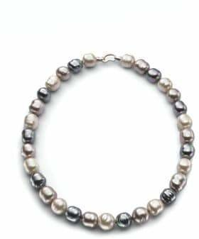 "Majorica 14MM Multicolor Baroque Pearl & Sterling Silver Strand Necklace/20"""