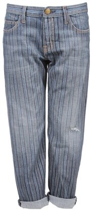 Current/Elliott Multi Stripe Boyfriend Jeans