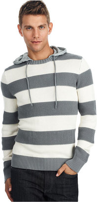 Kenneth Cole Reaction Sweater, Striped Hooded Sweater