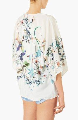 Topshop Bird Print Kimono Jacket