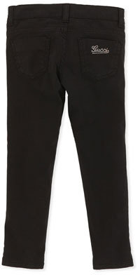Gucci Satin Leggings, Black, 4Y-10Y