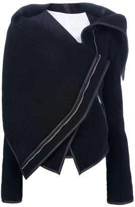 Gareth Pugh asymmetric flap detail jacket