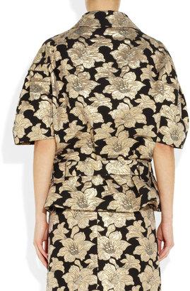 Marni Floral cotton-blend brocade belted jacket