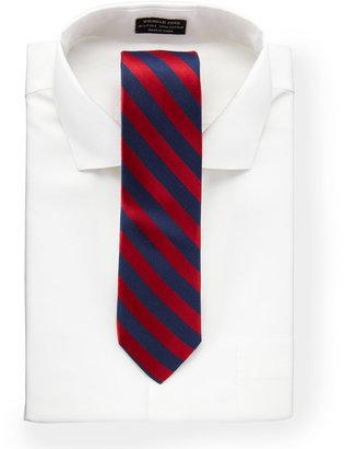 Neiman Marcus Barst Striped Slim Tie, Red