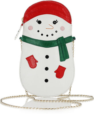 Charlotte Olympia Frostie embroidered leather clutch