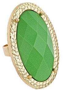 Blu Bijoux Green Oblong Cocktail Ring