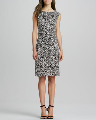 Diane von Furstenberg Jolene Animal-Print V-Back Dress